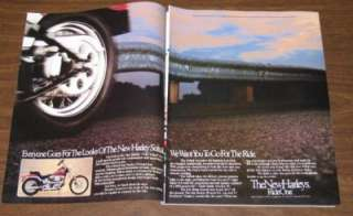 1984 Harley Davidson FXST Softail Motorcycle Original Color Ad