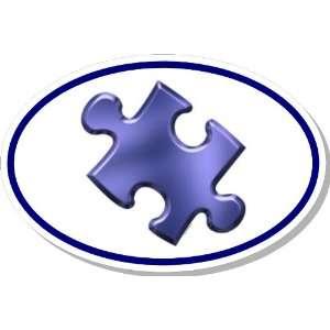 Autism Awareness Puzzle Piece Euro Bumper Sticker Decal