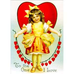 Unique High Quality Vintage Valentines Day Cards Chain of