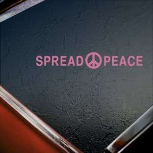 Spread Peace Pink Decal Car Truck Bumper Window Pink Sticker