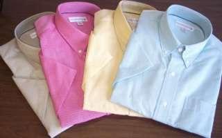 NWT Mens Cutter & Buck woven s/s sport shirt Size L