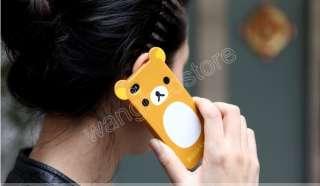 2PCS Relax Rilakkuma Cartoon Bear TPU Cute Case Cover Skin iPhone 4 4G