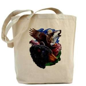 Tote Bag Bear Bald Eagle and Wolf: Everything Else