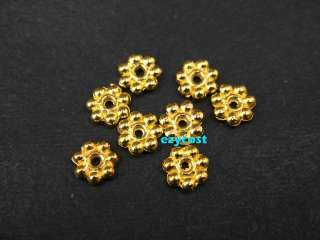 Finding Spacer Beads Gold Plated 200pcs Daisy Flower