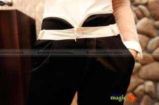 Lady Trendy Vintage OL High Waist Slim Fit Pencil Suit Pants Trousers