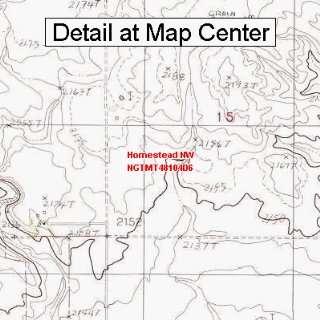 USGS Topographic Quadrangle Map   Homestead NW, Montana (Folded
