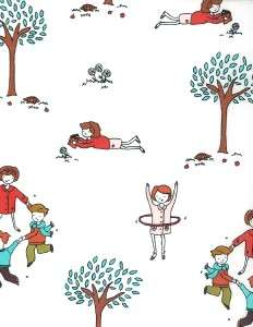 MODA Fabric ~ LITTLE APPLES ~ by Aneela Hoey   Children / White   by 1