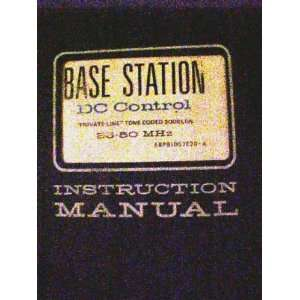 Motorola Base Station FM Radio Instruction Manual