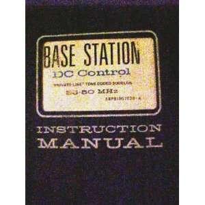 Motorola Base Station FM Radio Instruction Manual
