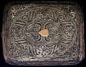 RARE Antique RUSSIAN Silver Filigree Cigarette Case