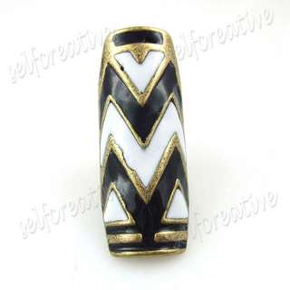 Retro 2 Long Wild Ripple Knuckle Finger Ring, 2 COLORS