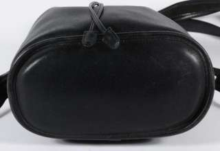 Vintage Coach Black Leather Drawstring Bucket Shoulder Bag 9952