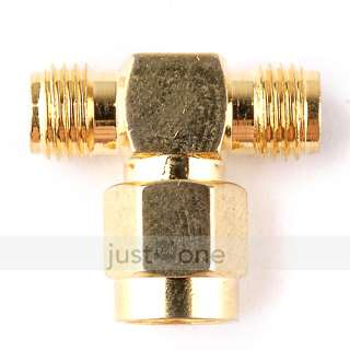 RP SMA Female T Type Coaxial Crimp Connector Antenna Adapter