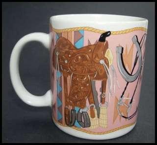 Otagiri Cowboy Boots Western Ceramic Coffee Mug Cup HTF