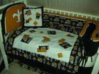 Baby Nursery Crib Bedding Set made w/ New Orleans Saints NFL fabric