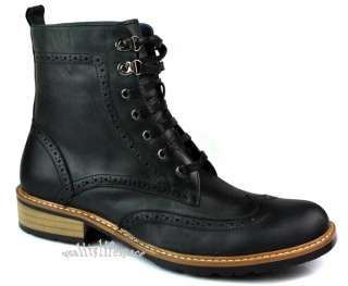New Vintage Leather Mens ANKLE Boots Lace Up Western