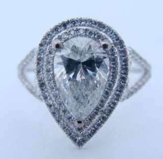 21 CT Pear Shaped DIAMOND 14K Gold ENGAGEMENT RING