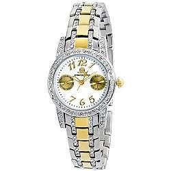 Jennifer Lopez Collection Womens Two tone Bracelet Watch