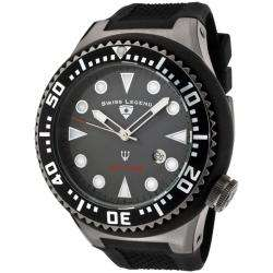 Swiss Legend Mens Neptune Grey Dial Black Rubber Watch  Overstock