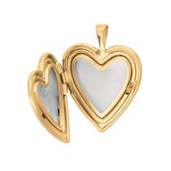 14k Gold and Sterling Silver Paw Print Heart Locket Necklace