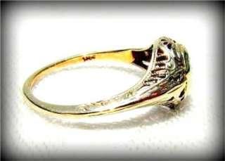 BEAUTIFUL 1920s Art Deco MINE CUT 14k White Gold FILIGREE DIAMOND