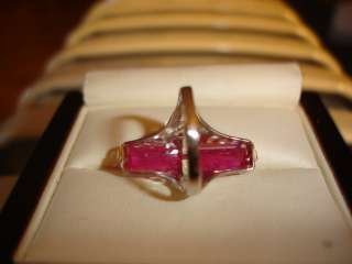 ART DECO 14K W/G FILIGREE PINK TOURMALINE DIAMOND RING 1920