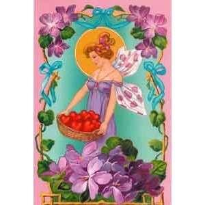 Valentines Day Greeting Card   Violet Valentine Fairy