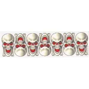 Evil Smiling Skulls Vinyl Decal Sticker