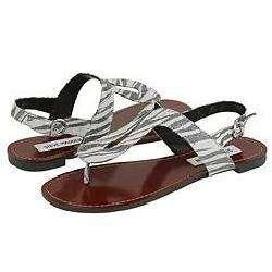Steve Madden Sanfrann Zebra Sandals