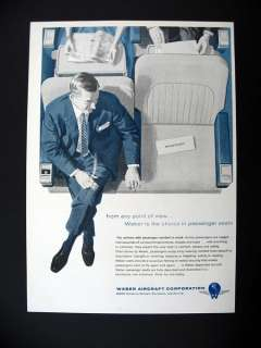 Aircraft Airliner Airplane Seating Seats 1956 print Ad advertisement