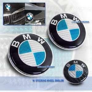 BMW E65 66 02 up 7 Series Carbon Fiber Hood Trunk Roundel Steering