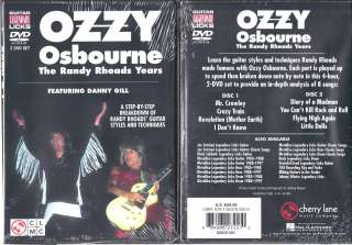 Guitar Legendary Licks Ozzy Osbourne   The Randy Rhoads Years (DVD