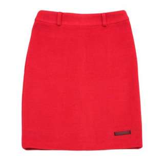 RED H LINE PROFESSIONAL TAILORED CAREER WOOL SKIRT SZ M