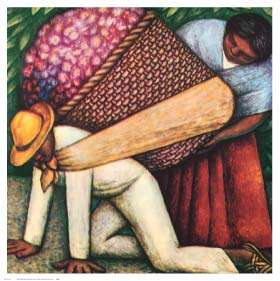 The Flower Carrier Print Diego Rivera Ethnic Art