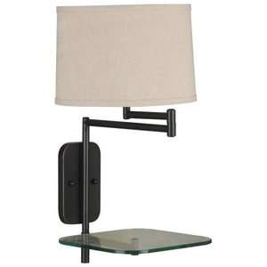Kenroy Home Tabula Wall Swing Arm Lamp   23H in. Oil