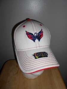 NEW Washington CAPITALS Youth Size 4 7 Nice White Embroidered Hat Cap