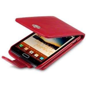 SAMSUNG GALAXY MOBILE LEATHER CASE NOTE N7000 COVER IN RED