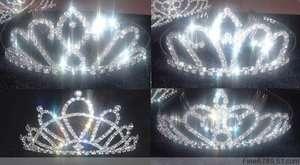 Wholesale 6pcs Noble Crystal Rhinestone L TIARA Crowns
