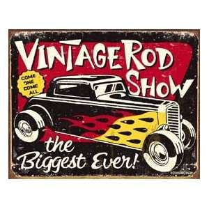 Vintage Hot Rod Car Show tin sign #1324