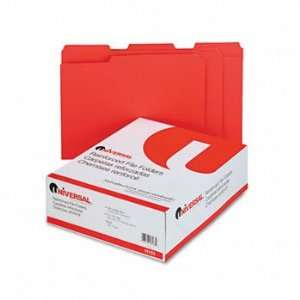 com Universal® Heavyweight Colored File Folders With Top Tabs FOLDER