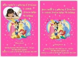 DISNEY PRINCESS Birthday Invitation CUSTOM   U Print