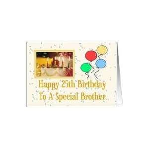 Happy 25th Birthday Brother Card: Health & Personal Care