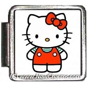 Red Hello Kitty Italian Charm Bracelet Jewelry Link A10383
