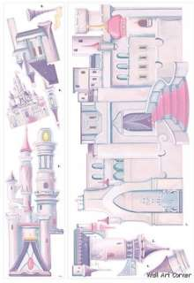 Giant Disney Princess Castle Girls Wall Sticker Decal