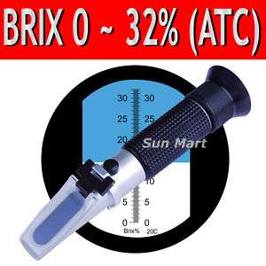 Brix Refractometer 32% ATC Fruit Juice Wine CNC Sugar g
