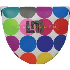 Loudmouth Golf Putter Cover XL   Disco Balls White