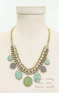 Bansri Gold Chain Crystal & Green Drop Jewels Necklace