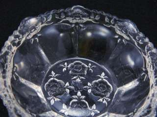 RARE & Early 1910 WESTMORELAND Floral COLONIAL Glass BERRY Fruit BOWL