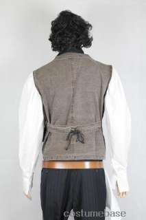 Sweeney Todd FULL COSTUME SET Wig Shirt Vest Belt Holster Clip