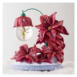 Tinker Bell Poinsetta Holiday Snow Globe